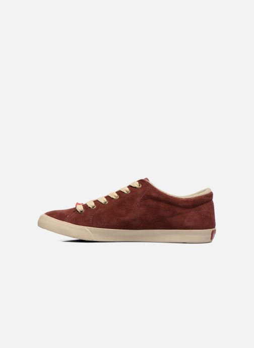 Trainers Coca-cola shoes Flux Suede Burgundy front view