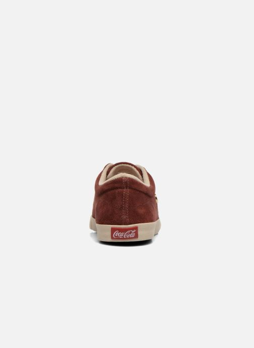 Trainers Coca-cola shoes Flux Suede Burgundy view from the right