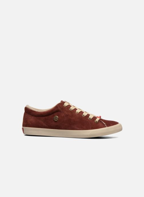 Trainers Coca-cola shoes Flux Suede Burgundy back view
