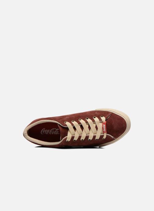 Baskets Coca-cola shoes Flux Suede Bordeaux vue gauche