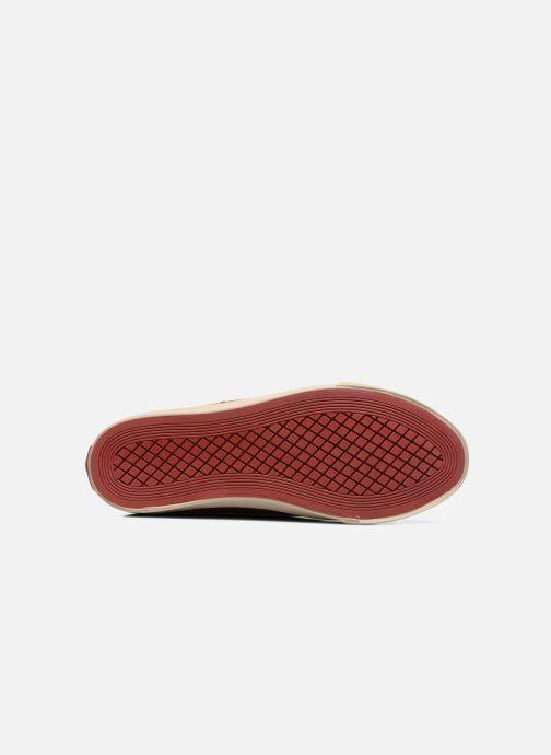 Baskets Coca-cola shoes Flux Suede Bordeaux vue haut