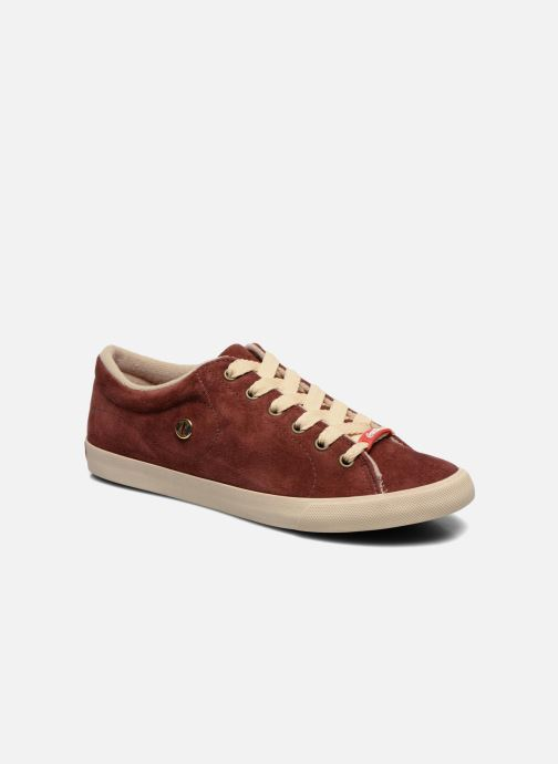 Trainers Coca-cola shoes Flux Suede Burgundy detailed view/ Pair view