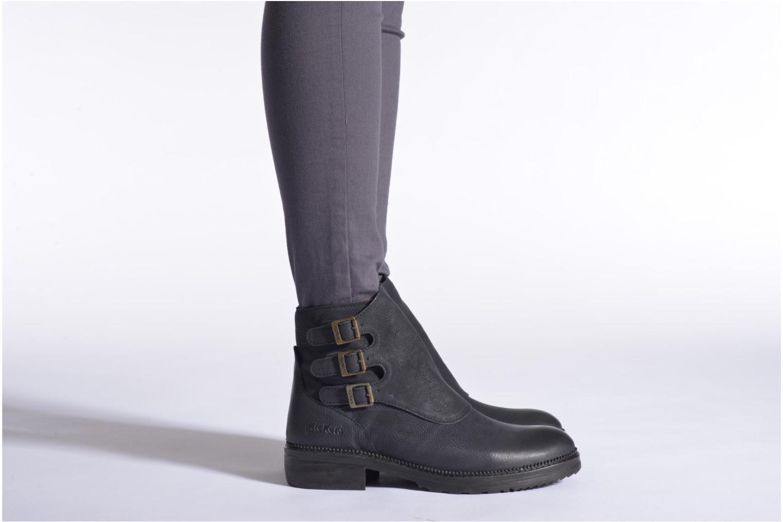 Bottines et boots Kickers Rouille Noir vue bas / vue portée sac