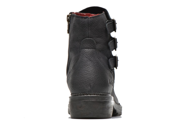 Bottines et boots Kickers Rouille Noir vue droite
