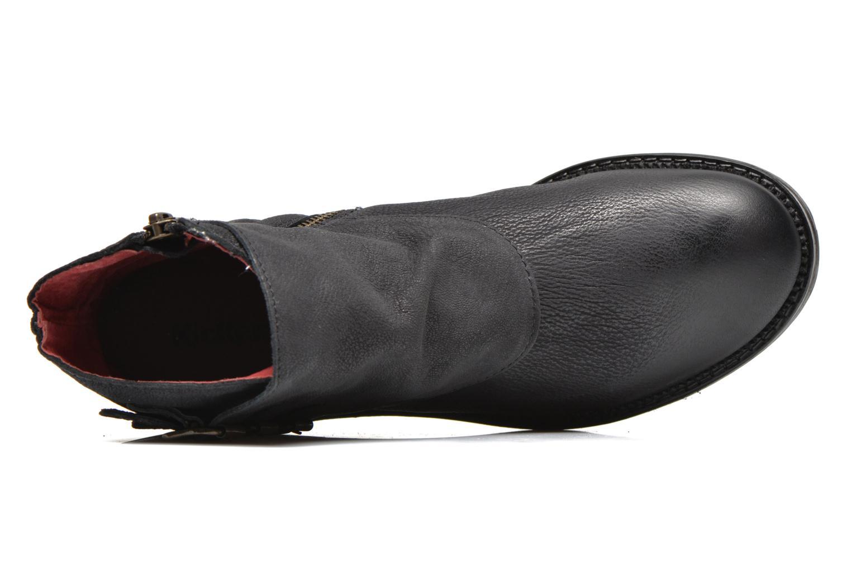 Bottines et boots Kickers Rouille Noir vue gauche
