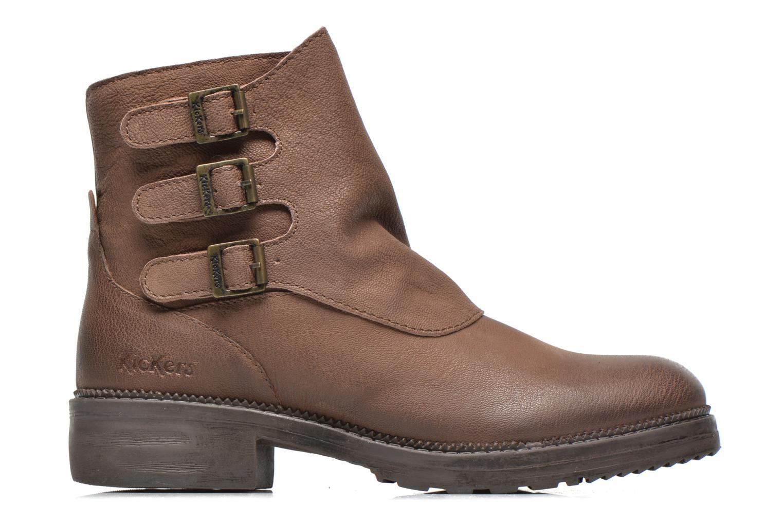 Bottines et boots Kickers Rouille Marron vue derrière