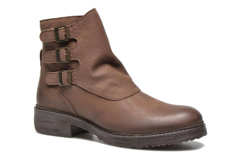 Bottines et boots Kickers Rouille Marron vue détail/paire