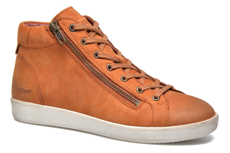 Baskets Kickers Hamo Orange vue détail/paire