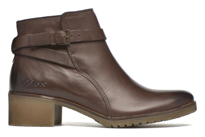 Boots en enkellaarsjes Kickers Mila Bruin achterkant