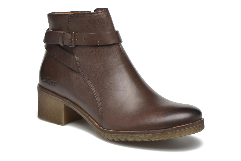 Boots en enkellaarsjes Kickers Mila Bruin detail