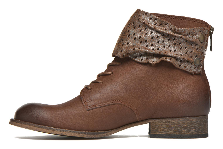 Bottines et boots Kickers Punkyzip Marron vue face
