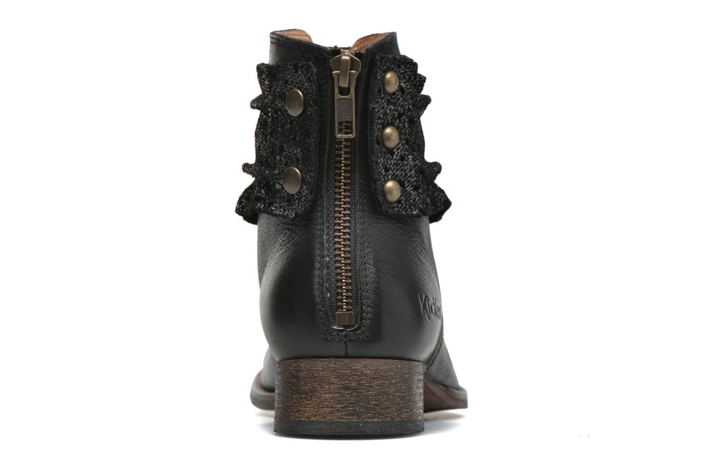 Bottines et boots Kickers Punkyzip Noir vue droite