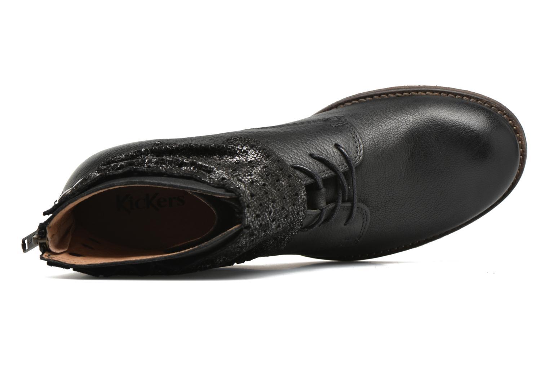 Bottines et boots Kickers Punkyzip Noir vue gauche