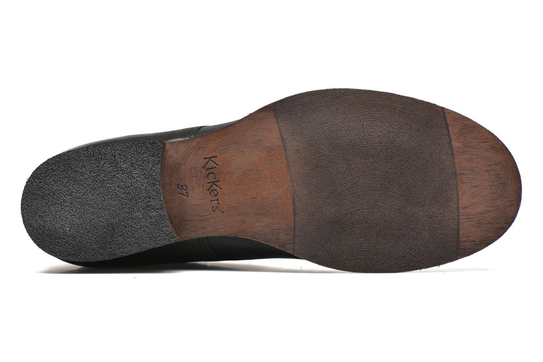 Bottines et boots Kickers Punkyzip Noir vue haut