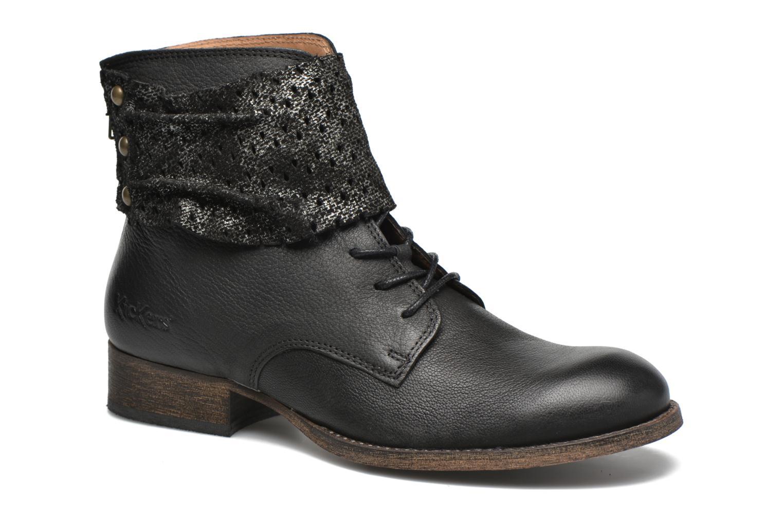Ankelstøvler Kickers Punkyzip Sort detaljeret billede af skoene
