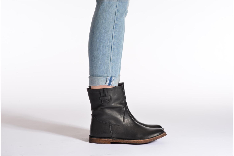 Stiefeletten & Boots Kickers cresson schwarz ansicht von unten / tasche getragen