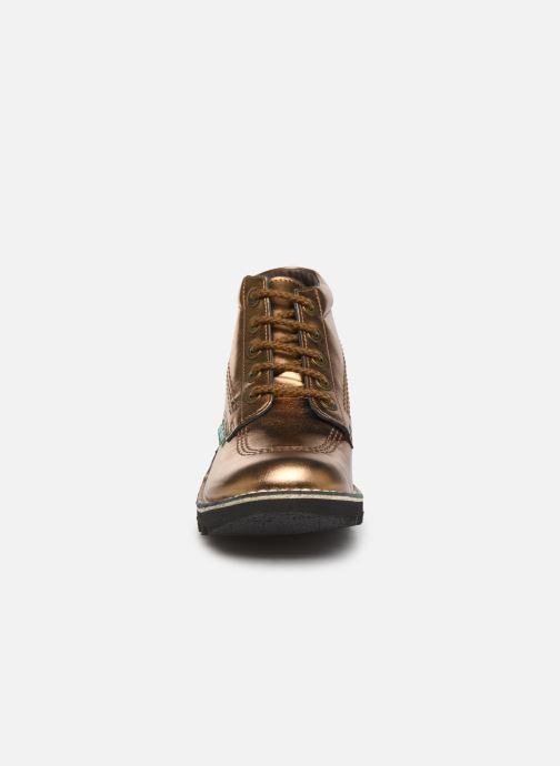 Chaussures à lacets Kickers Neorallye F Or et bronze vue portées chaussures