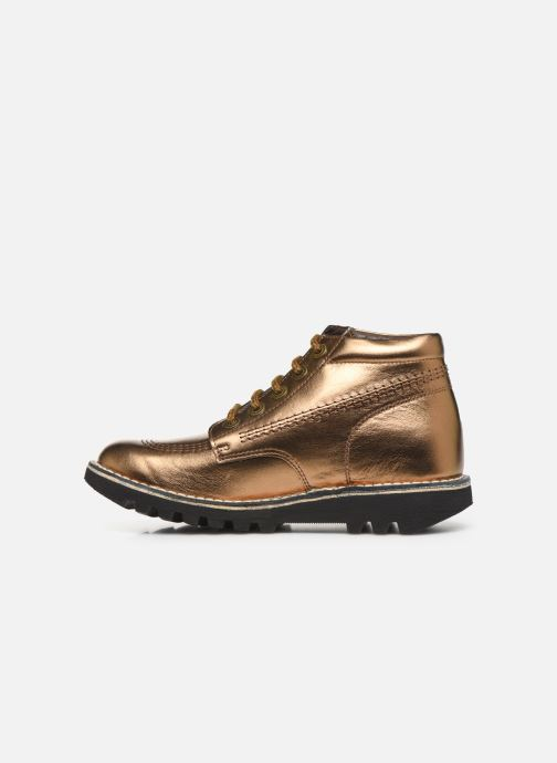 Chaussures à lacets Kickers Neorallye F Or et bronze vue face