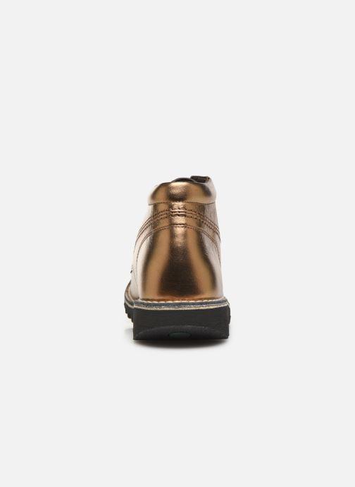 Chaussures à lacets Kickers Neorallye F Or et bronze vue droite