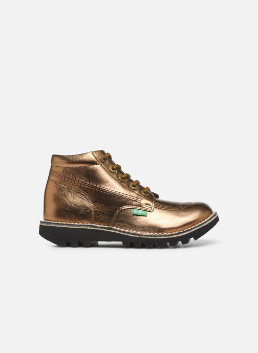 Chaussures à lacets Kickers Neorallye F Or et bronze vue derrière