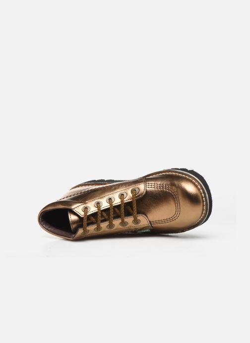Chaussures à lacets Kickers Neorallye F Or et bronze vue gauche