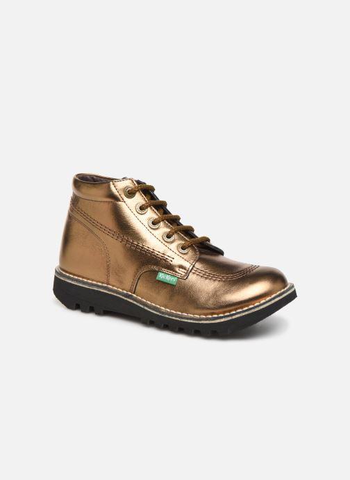 Snøresko Kickers Neorallye F Guld og bronze detaljeret billede af skoene