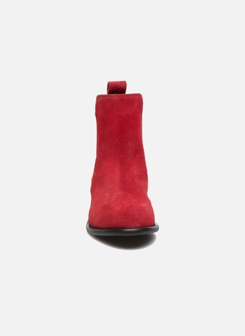 Stivaletti e tronchetti Yep Cannelle Rosso modello indossato