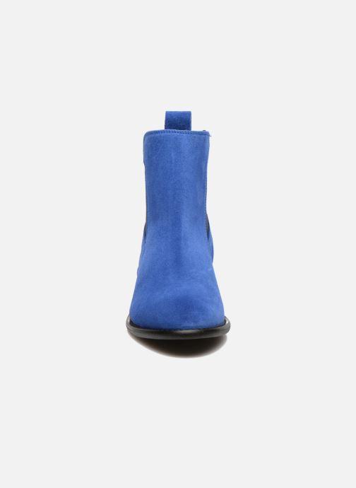 Stivaletti e tronchetti Yep Cannelle Azzurro modello indossato