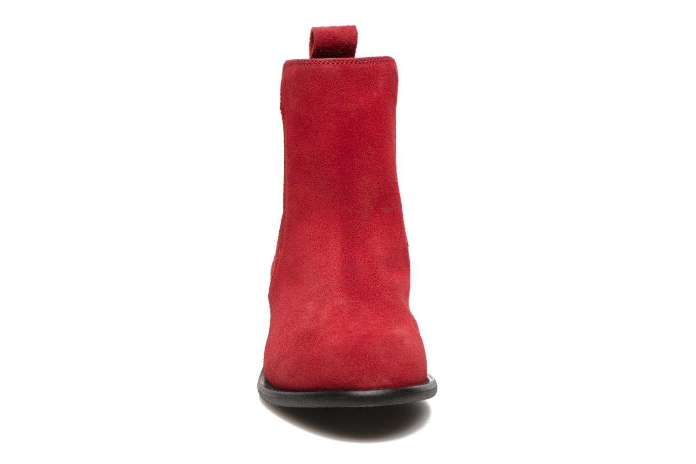Bottines et boots Yep Cannelle Rouge vue portées chaussures