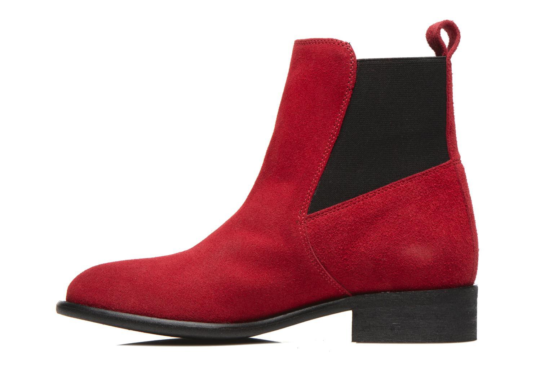 Bottines et boots Yep Cannelle Rouge vue face