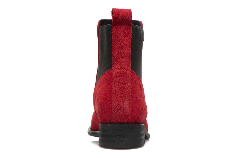 Bottines et boots Yep Cannelle Rouge vue droite