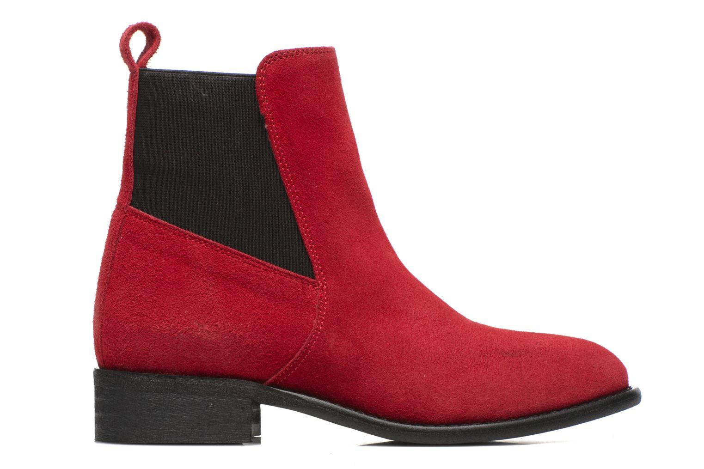 Bottines et boots Yep Cannelle Rouge vue derrière