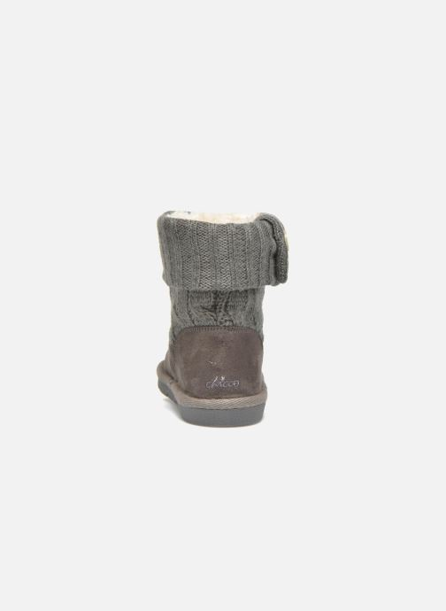 Botines  Chicco Charme Gris vista lateral derecha