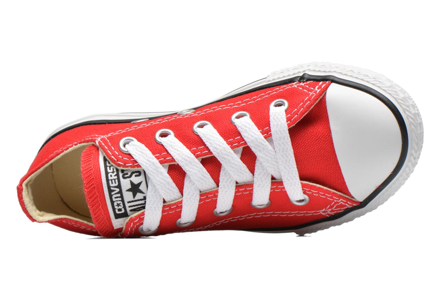 Sneakers Converse Chuck Taylor All Star Core Ox Rosso immagine sinistra