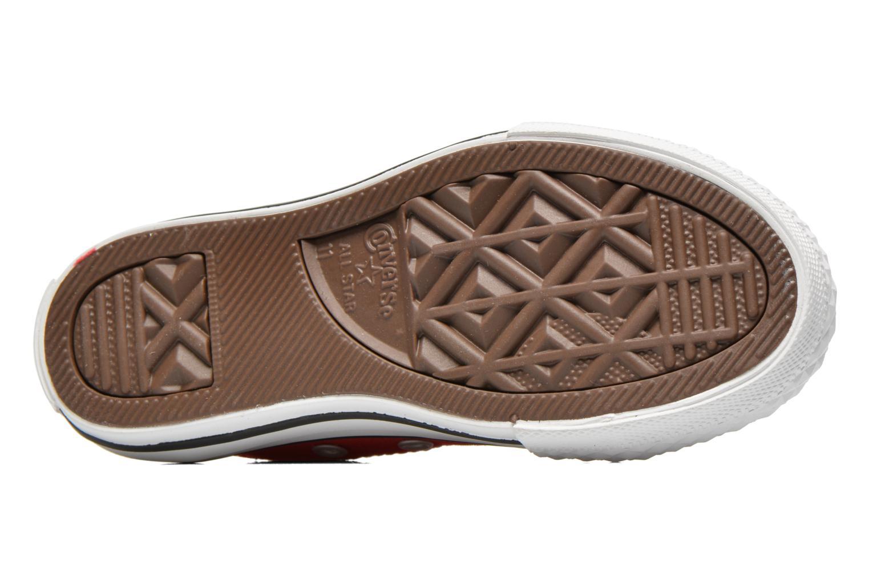 Sneakers Converse Chuck Taylor All Star Core Ox Rosso immagine dall'alto
