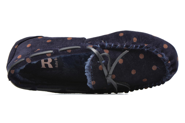 Pantoffels Ruby Brown Mae Blauw links