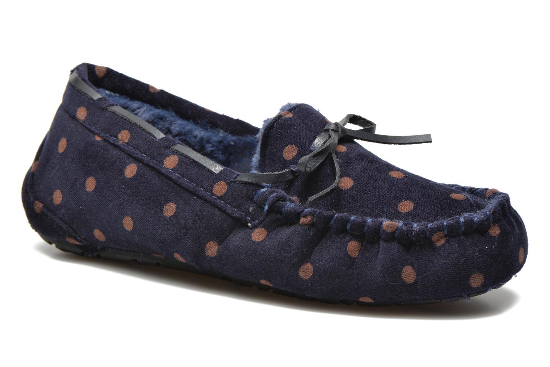 Hjemmesko Ruby Brown Mae Blå detaljeret billede af skoene