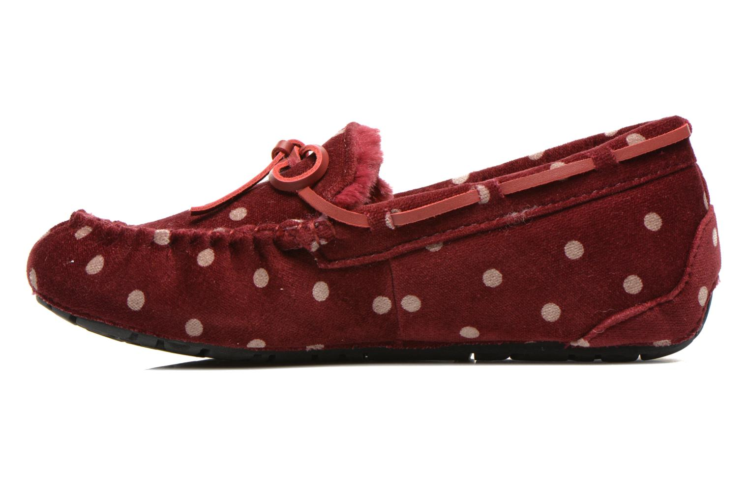 Pantofole Ruby Brown Mae Rosso immagine frontale
