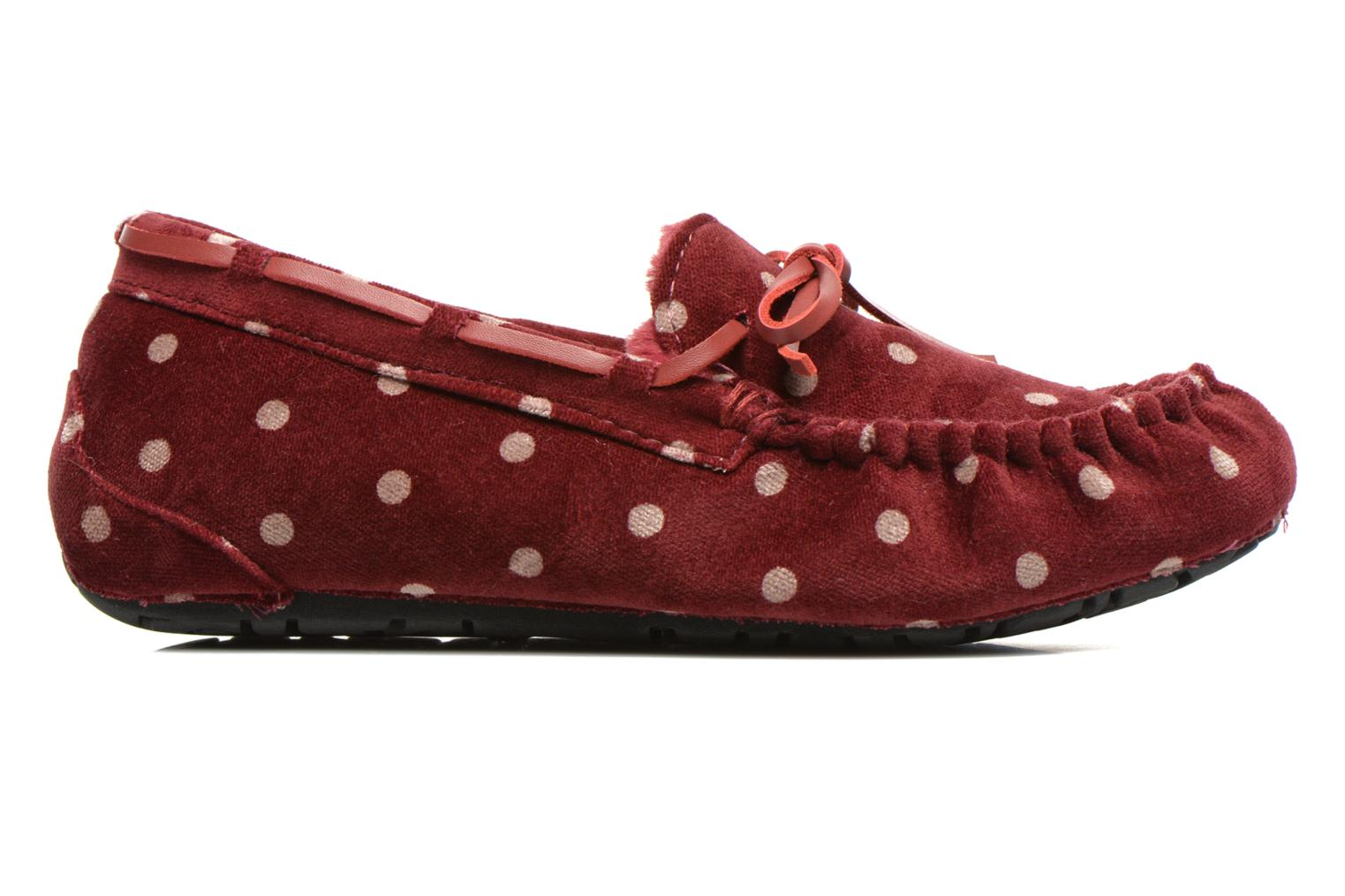 Pantofole Ruby Brown Mae Rosso immagine posteriore