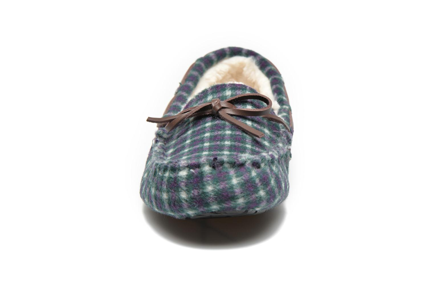 Chaussons Ruby Brown Check mocassin M Multicolore vue portées chaussures