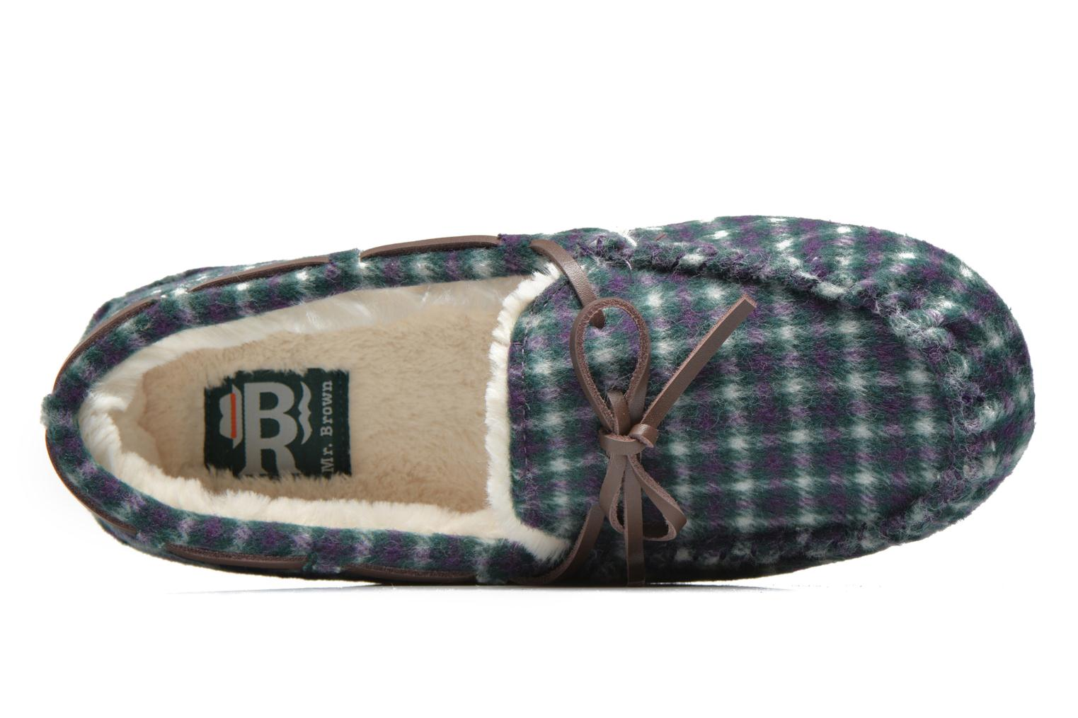 Chaussons Ruby Brown Check mocassin M Multicolore vue gauche