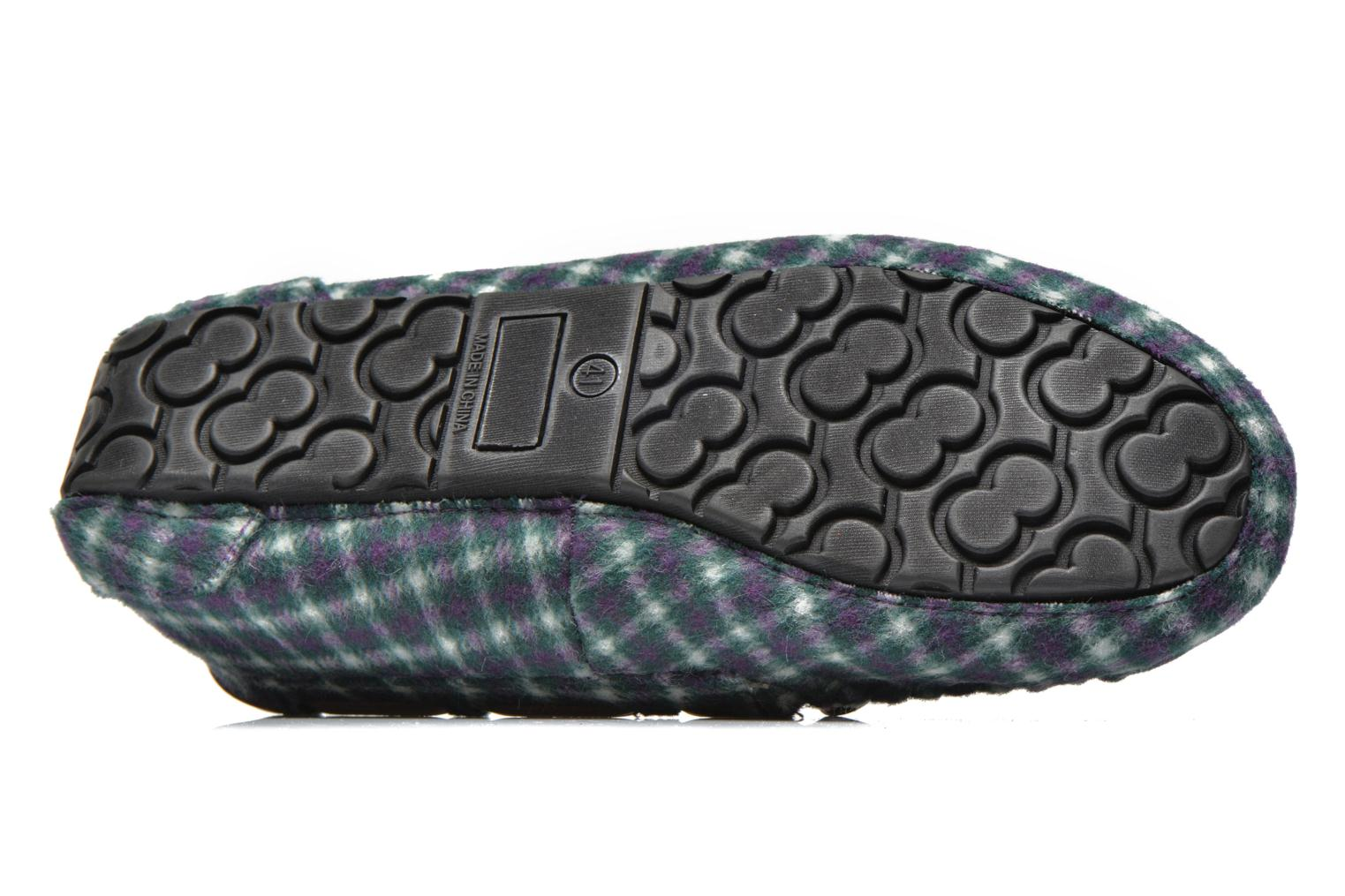 Chaussons Ruby Brown Check mocassin M Multicolore vue haut