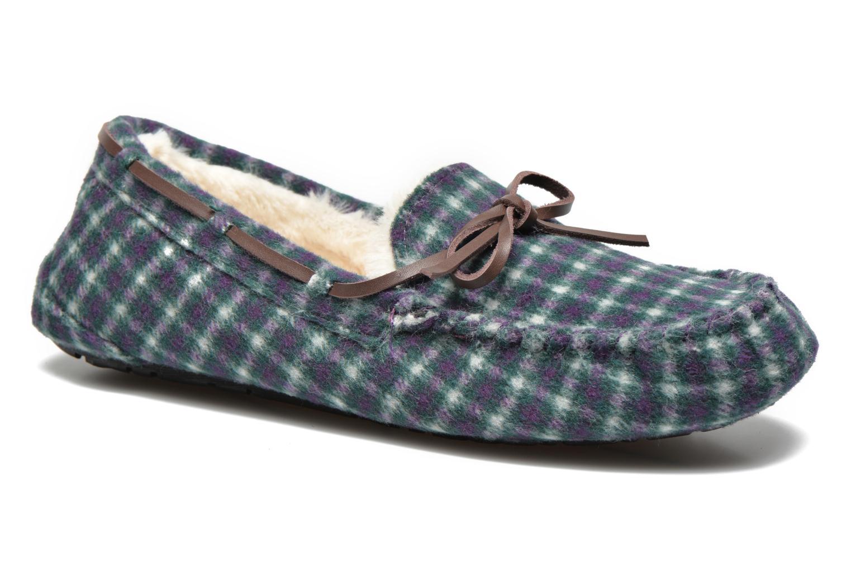 Chaussons Ruby Brown Check mocassin M Multicolore vue détail/paire