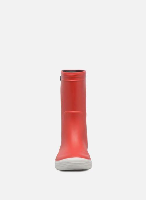 Bottes Méduse Airport Rouge vue portées chaussures