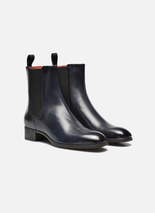 Bottines et boots Santoni Elodie 53554 Bleu vue 3/4