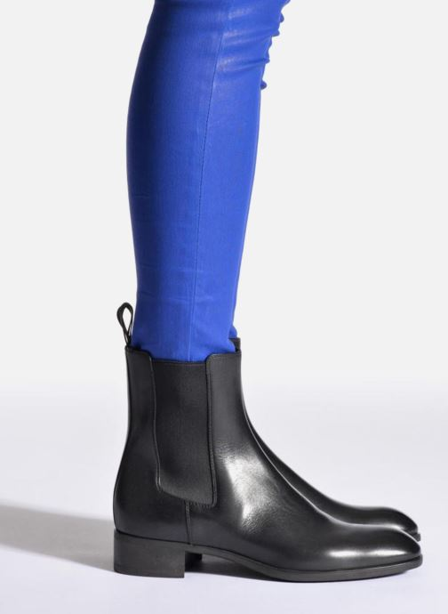 Ankle boots Santoni Elodie 53554 Blue view from underneath / model view