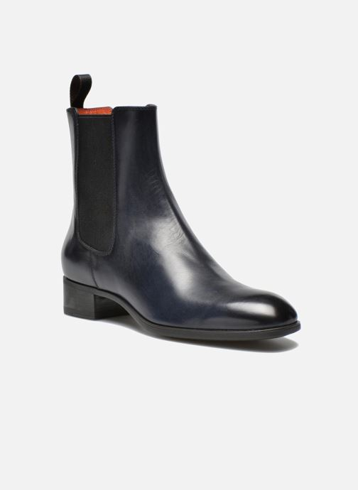 Ankle boots Santoni Elodie 53554 Blue detailed view/ Pair view