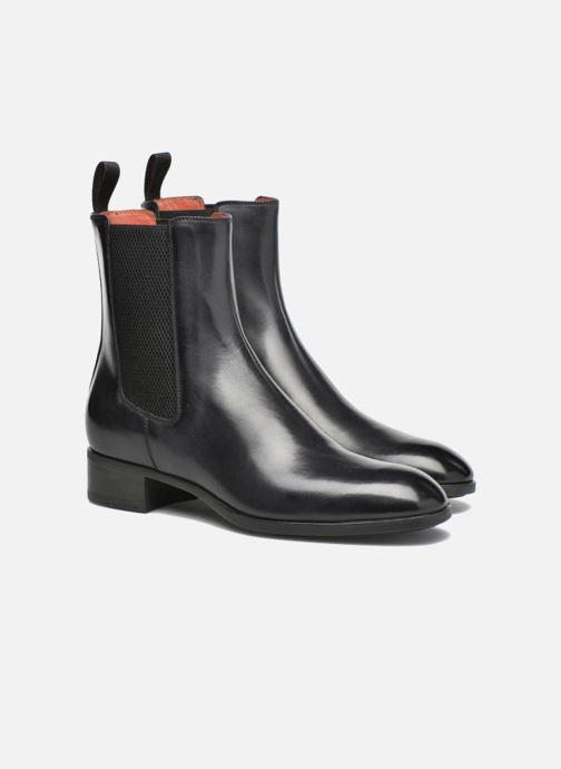 Bottines et boots Santoni Elodie 53554 Gris vue 3/4