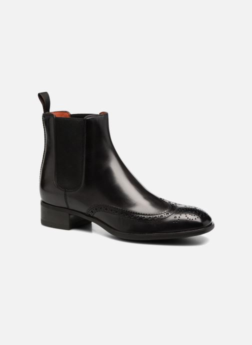 Ankle boots Santoni Elodie 55133 Black detailed view/ Pair view