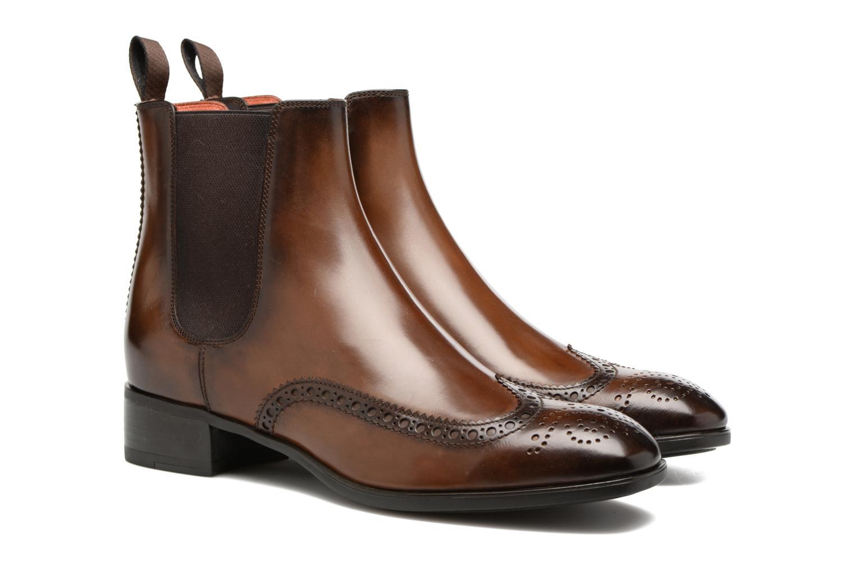 Bottines et boots Santoni Elodie 55133 Marron vue 3/4